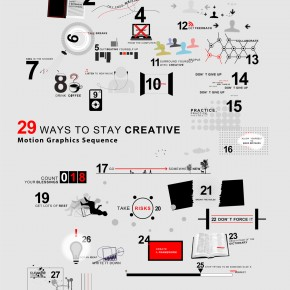 "Download graphic of ""29 WAYS TO STAY CREATIVE"""